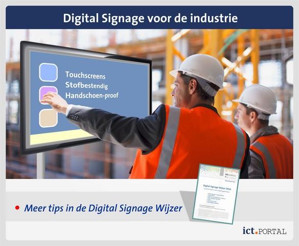 digital signage industriele omgevingen opties