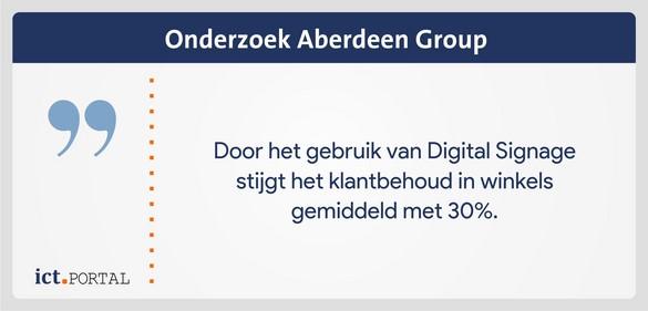 digital signage retail klantbehoud