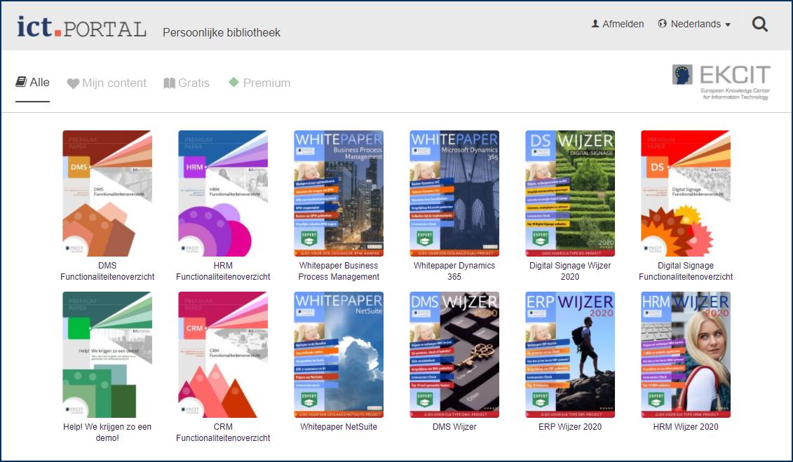digitale ict bibliotheek screenshot