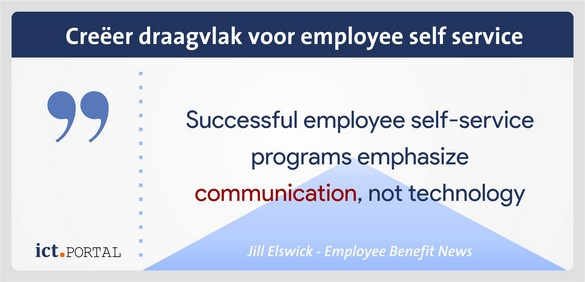 employee self service software draagvlak