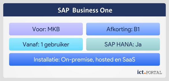 sap business one overzicht