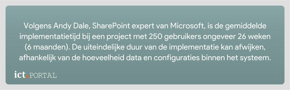sharepoint 2016 implementatie periode