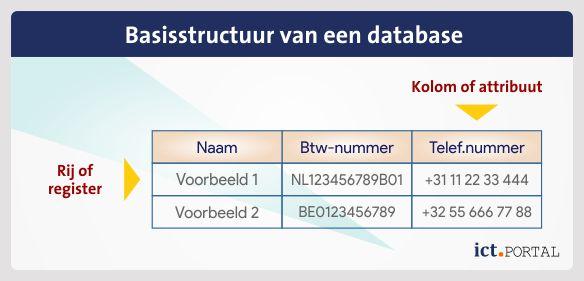 structuur database