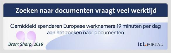 zoektijd documenten dms grote organisaties